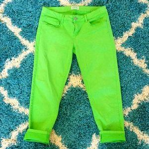 Aeropostale lime green lola jegging 9/10